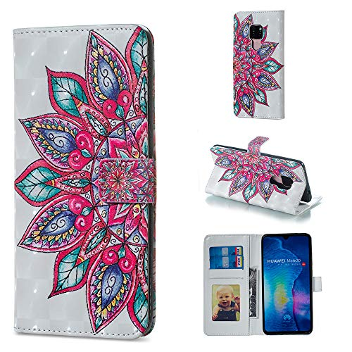 Custodia® 3D Relief Patterns Flip Wallet Case for Huawei Mate 20 (Pattern 9) from Custodia