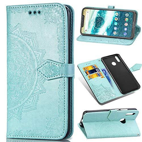 Custodia® 3D Relief Patterns Flip Wallet Case for Motorola One Power (Pattern 1) from Custodia