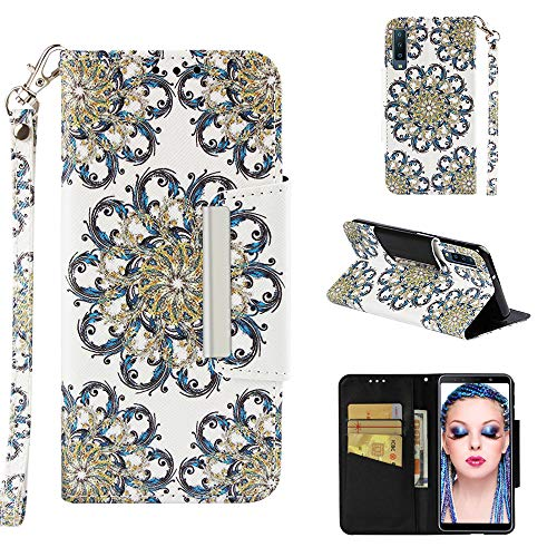 Custodia® 3D Relief Patterns Flip Wallet Case for Samsung Galaxy A7 2018 (Pattern 6) from Custodia