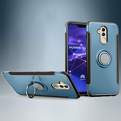 Custodia® Firmness Smartphone Case with Ring for Huawei P20 Lite(Blue) from Custodia