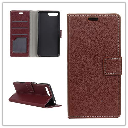 Custodia® Flip Wallet Case for BlackBerry KEY2 LE (Brown) from Custodia