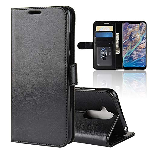 Custodia® Flip Wallet Case for NOKIA 7.1 Plus (Black) from Custodia