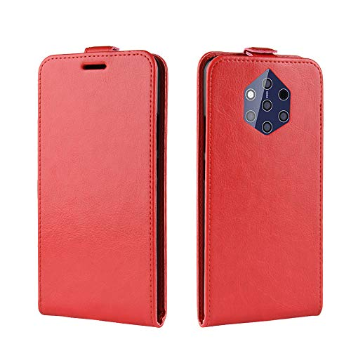Custodia® Flip Wallet Case for Nokia 9 (Red) from Custodia