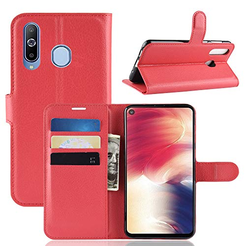 Custodia® Flip Wallet Case for Samsung Galaxy A8s (Red) from Custodia
