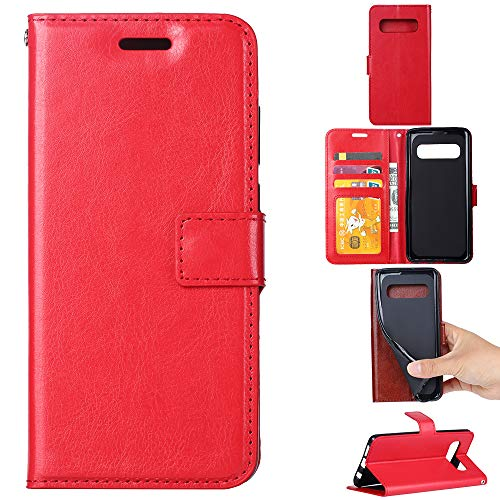 Custodia® Flip Wallet Case for Samsung Galaxy S10 (Red) from Custodia