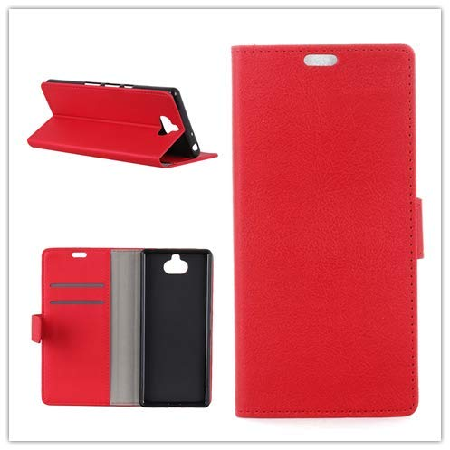 Custodia® Flip Wallet Case for Sony Xperia XA3 (Red) from Custodia