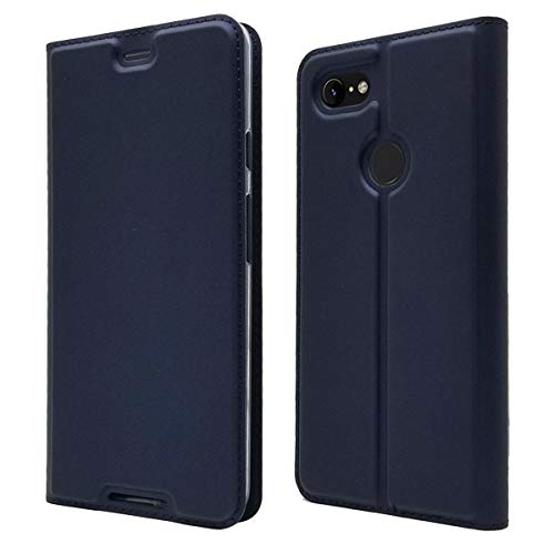 Custodia® Ultra Thin PU TPU Flip Case with Card Slot and Stand Function for Google Pixel 3 XL(Dark Blue) from Custodia
