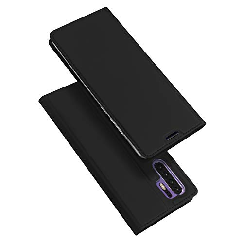 Custodia® Ultra Thin PU TPU Flip Case with Card Slot and Stand Function for Huawei P30 Pro(Black) from Custodia