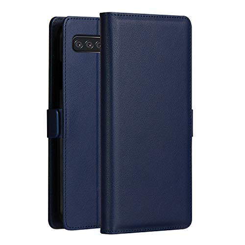 Custodia® Ultra Thin PU TPU Flip Case with Card Slot and Stand Function for Samsung Galaxy S10(Dark Blue) from Custodia