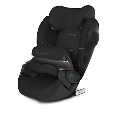 CYBEX Silver Pallas M-Fix SL 2-in-1 Child's Car Seat, For Cars with and without ISOFIX, Group 1/2/3 (9-36 kg), From approx. 9 Months to approx. 12 Years, Pure Black from Cybex