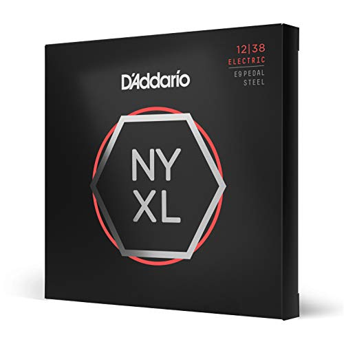 D'Addario NYXL1238PS Custom Light 12-38 Nickel Wound Pedal Steel Guitar Strings from D'Addario