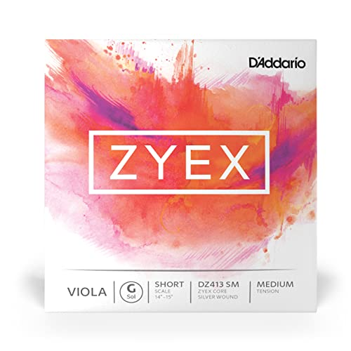 D'Addario Zyex Short Scale Medium Tension Single G String for Viola from D'Addario