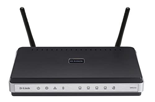 D-Link DIR-615 Wireless N 300Mbps wireless Cable Router - 4 Port 10/100 Switch & Xbox Live service compatibility from D-Link