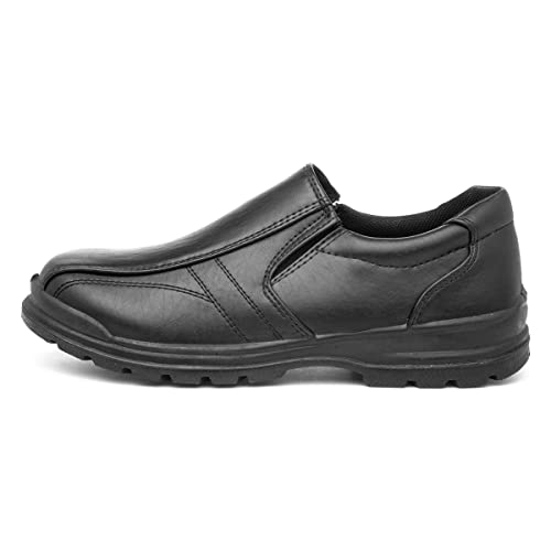 D-Max Boys Black Slip On Shoe - Size 1 UK - Black from D-Max
