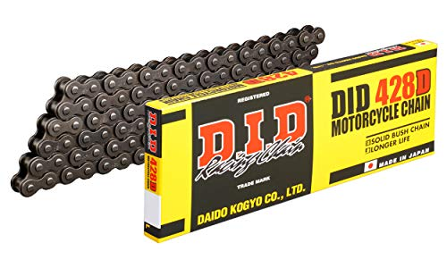 DID 428 D Chain 120 Links (Standard), Open, with Clip Lock from D.I.D