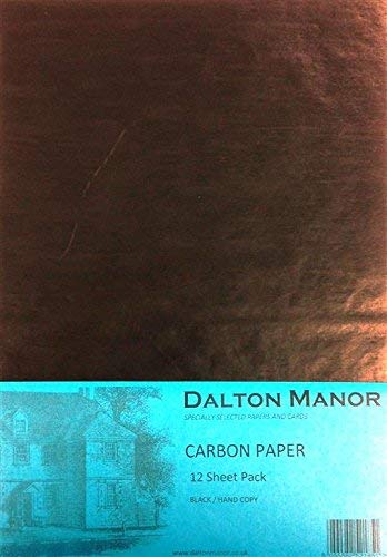 A4 Carbon Paper 12 Sheet Pack Colour - Black from DALTON MANOR