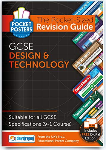 GCSE Design & Technology | Pocket Posters: The Pocket-Sized GCSE Design & Technology Revision Guide | 9-1 GCSE Specification | Comprehensive GCSE Design & Technology Study Guide, by Daydream Education from DAYDREAM EDUCATION