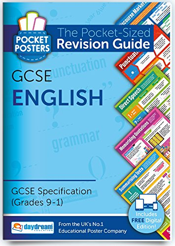GCSE English Pocket Poster Revision Guide | 9-1 Specification | Includes FREE digital edition! from Daydream Education