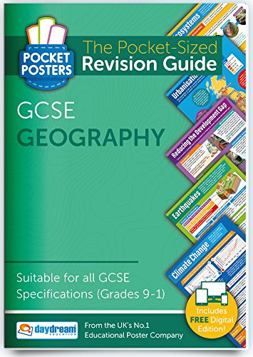 GCSE Geography | Pocket Posters: The Pocket-Sized Geography Revision Guide | GCSE Specification | FREE digital edition for computers, phones and tablets with over 1,000 assessment questions! from Daydream Education