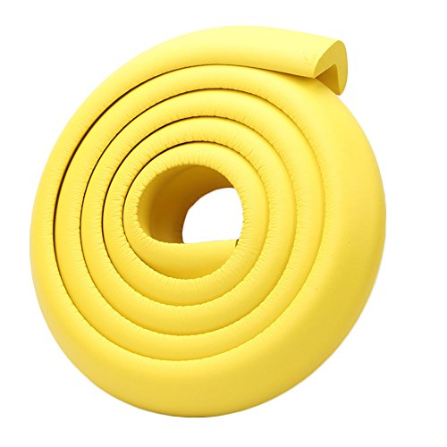 DAYNECETY 2pcs Baby Safety Edge Corner Guards Protector Table Desk Edge Cushion Guard Foam Strip Softener Bumper Protection Thickness Pad Mat for Baby Child Play (Yellow) from DAYNECETY