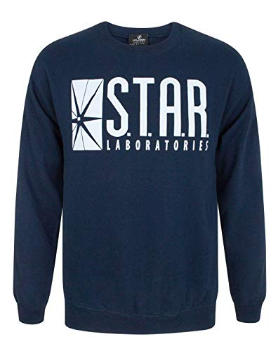 The flash tv series star laboratories unisex pullover. -  Blue - XX-Large from Official