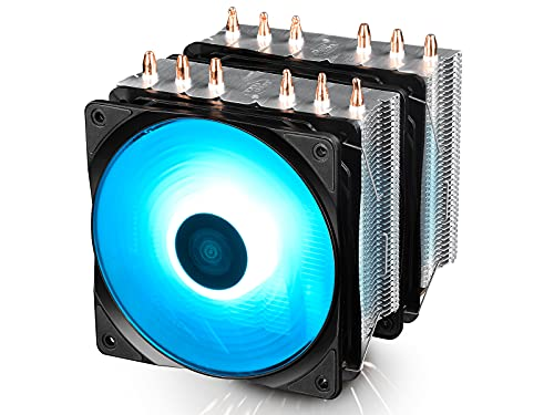 DEEPCOOL Neptwin RGB CPU Cooler 6 Heatpipes Twin-Tower Heatsinks Dual 120mm PWM RGB Fans Motherboard Control and Wired Controller Supported from DEEPCOOL