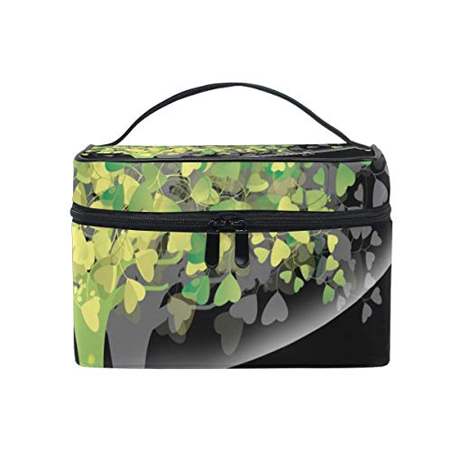 DEZIRO Abstract Tree Heart Leaves cute makeup bag brush bag Pouch from DEZIRO