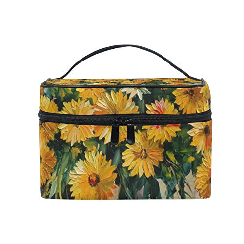 DEZIRO Oil Painting Daisy Pattern cute makeup bag brush bag Pouch from DEZIRO