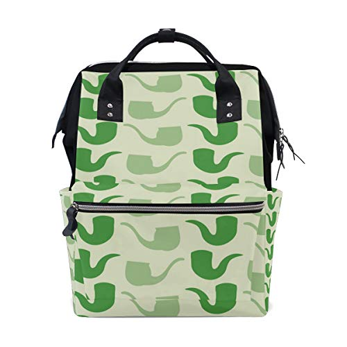 DEZIRO canvas Green Tobacco Pipe School pack Backpacks Travel bag from DEZIRO