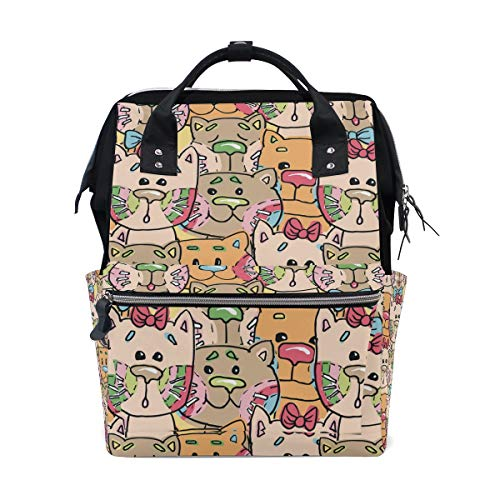 DEZIRO canvas Special Cat Painting School pack Backpacks Travel bag from DEZIRO