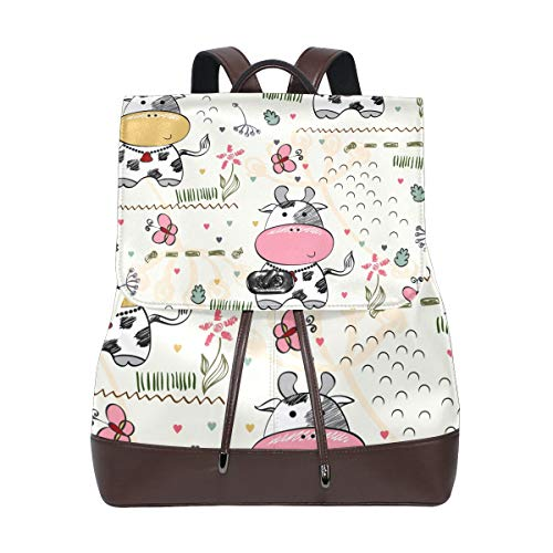 DEZIRO leather Cute Baby Cows School pack Backpacks Travel bag from DEZIRO
