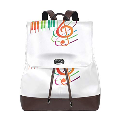 DEZIRO leather Multicolor Musical Note School pack Backpacks Travel bag from DEZIRO