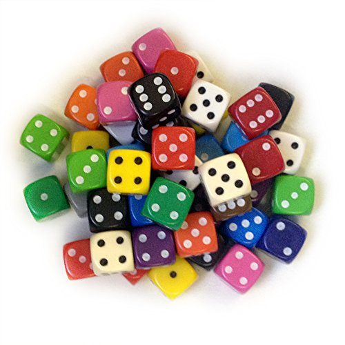 BigCherry - Dice, 50 x 12mm Round Corner Spot - Mixed from DICE AND GAMES