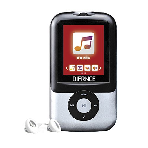 Difrnce MP1895 8GB MP3-Player with 1.8 inch Display and Speaker - Silver from DIFRNCE