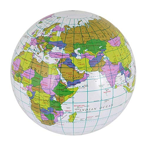 DIGITAL SPOT Childrens Fancy Kids Inflatable Blow Up Globe World Map Earth 60cm Accessory 40cm (Pack Of 1) One Size from DIGITAL SPOT