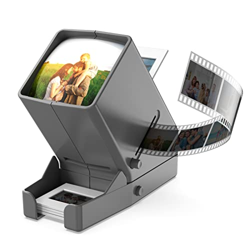 35mm Portable LED Negative and Slide Viewer LED Daylight Desktop Slide Viewer 3x Magnification for 35mm Slides from DIGITNOW!