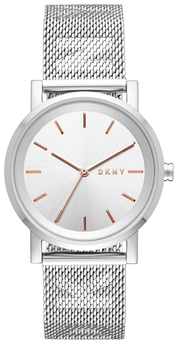 DKNY Black Dial Ladies Stainless Steel Watch from DKNY