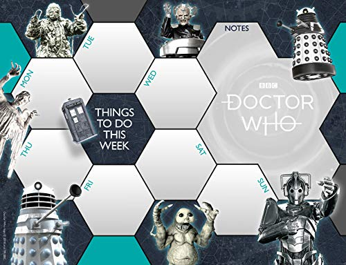 Doctor Who Desk Pad Official Calendar - Non dated weekly planner Format from DOCTOR WHO