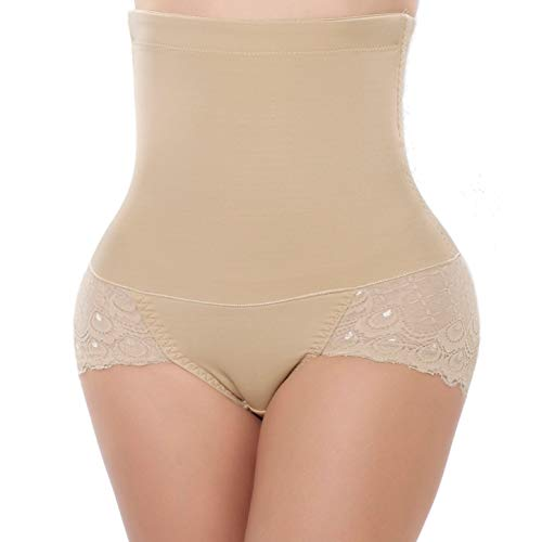 44ece0c3d DODOING High Waisted Tummy Control Knickers Corset Panty Butt Lifter Shapewear  Slimming Sexy Lace Underwear Shapewear