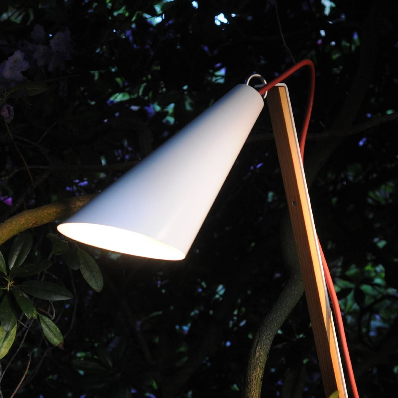 Decorative light Pit Out for outdoors, white from Domus