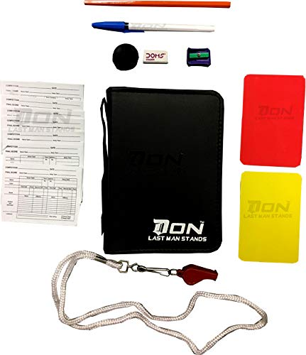DON Sports Referee Wallet Kit Red Yellow Card Footy Whistle Game Sheets Book Netball Rugby from DON LAST MAN STANDS