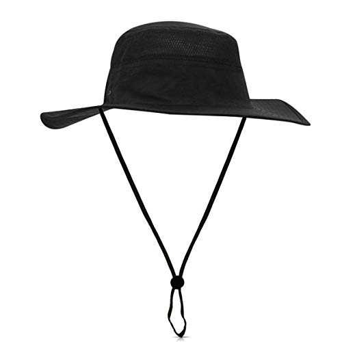 567ee0f1 DORRISO Unisex Sun Hat Wide Brimmed Bucket Hat UPF 50+ Foldable Vacation  Traveling Mountaineering Bush