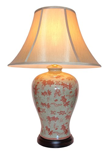 UK's LARGEST RANGE OF PORCELAIN LAMPS - Large Oriental Ceramic Table Lamp (M3406) - Chinese Mandarin Style Living Rooms & Bedrooms from DOWNTON INTERIORS