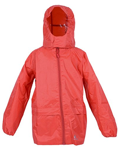 Dry Kids packable jacket bright red 5/6yrs from DRY KIDS