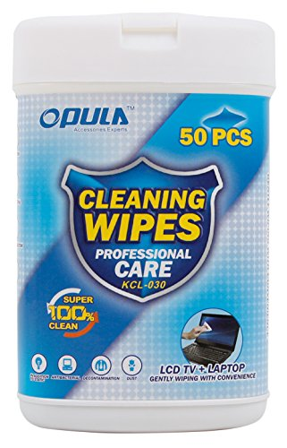 DURAGADGET 50 Anti-Static LCD Cleaning Cloths/Wipes - Compatible with GoStreamer G8 Quad Core 4K Ultra HD Wi-Fi Android TV Box from DURAGADGET