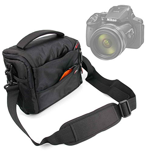 DURAGADGET Shock-Absorbing & Water-Resistant Carry Bag in Black & Orange - Compatible with the Nikon Coolpix P900 SLR Camera from DURAGADGET