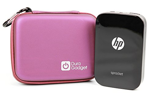 DURAGADGET Pink EVA Case with Soft Lining - Compatible with HP Sprocket Printer | HP Sprocket 2-in-1 Portable Photo Printer & Instant Camera | HP Sprocket 200 (2nd Generation) & Polaroid ZIP from DURAGADGET