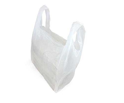 High Quality Plastic Vest Carrier Bags For Supermarkets Stalls & Shops, 15 Micron Thickness, All Sizes Available in Blue, Black, White [ 16 x 24 x 30 inches, White, Set of 100 PCS ] from Dabmoo