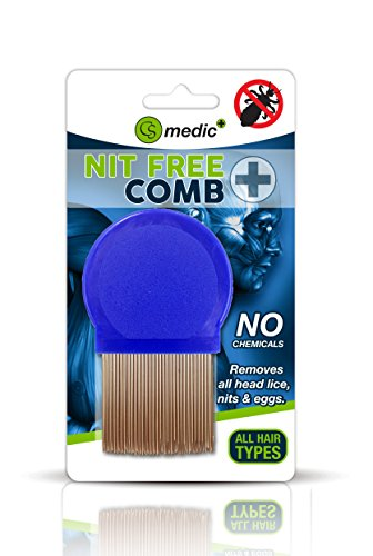 Standard Quality Metal Round Lice Nit Louse Detection Removal Comb Regular Use from Dabmoo