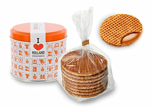 Daelmans Stroopwafels 8 per Orange Tin 330g - Pack of 1 from Daelmans